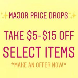 MAJOR PRICE DROP DISCOUNT SALE!!